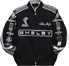 JH DESIGN Size Medium Carroll Shelby Cobra Black Twill Jacket