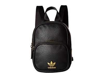 adidas Originals Originals Mini PU Leather Backpack (Black/Gold) Backpack Bags