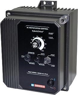 KB Electronics, 9520, KBAC-27D (Gray), 1.5;2HP, 1-Phase, 110-120V;200-240V (Input), Nema 4X Enclosure, Variable Frequency Drives