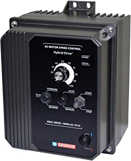 KB Electronics, 9520, KBAC-27D (Gray), 1.5;2HP, 1-Phase, 110-120V;200-240V (Input), Nema 4X Enclosure, Variable Frequency Drives