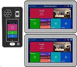 HBHYQ Apartamento 10 Pulgadas 2 monitores WiFi Video Door Portero Timbre Sistema de intercomunicación 1080p Cámara 500 Hue...
