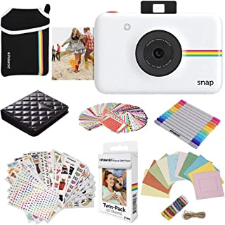 Polaroid Snap Instant Digital Camera (White) Protective Bundle with 20 Sheets Zink Paper