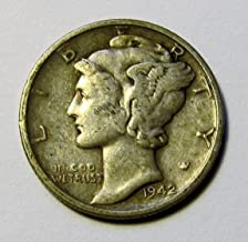 1916-1945 90% Silver Mercury Dimes Circulated (Mixed Dates and Mint Marks) .10c Dime Circulated