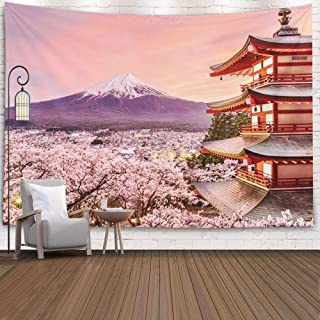 Jacrane Decorative Tapestry Wall Hanging Tapestries with 80×60 Inches Japan Pagoda..