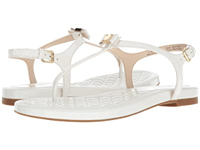 Cole Haan Tali Mini Bow Sandal (Optic White Patent) Women