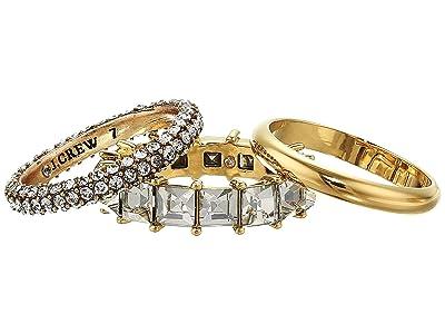 J.Crew Stacked Pave Ring Set (Crystal) Ring