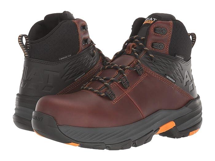 Ariat  6 Striker 360 Waterproof - Carbon Toe (Russet Brown) Mens Work Boots