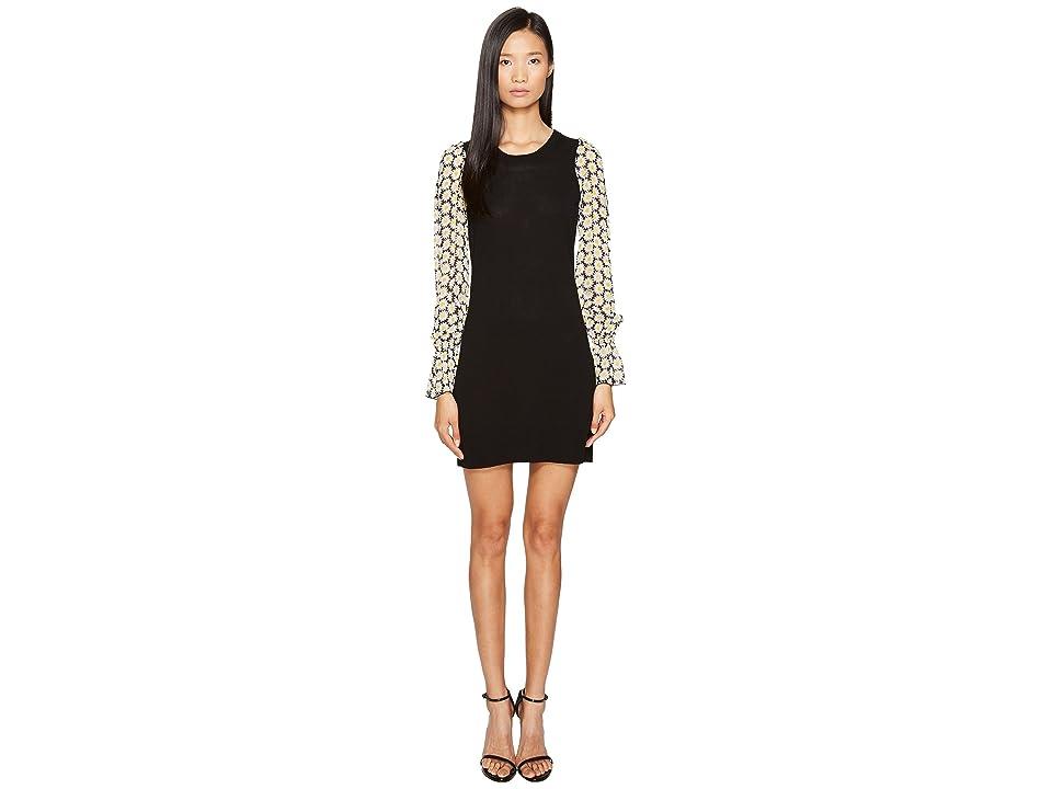 LOVE Moschino Daisy Sleeve Knit Dress (Black) Women