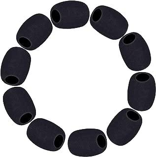 Lapel Microphone Windscreen, Headset Windscreen 10 Pack Mic Foam Covers Lavalier Microphone Windscreen for Variety of Headset Microphone, Tough Sponge Material, Microphone Noise Reduction, Black