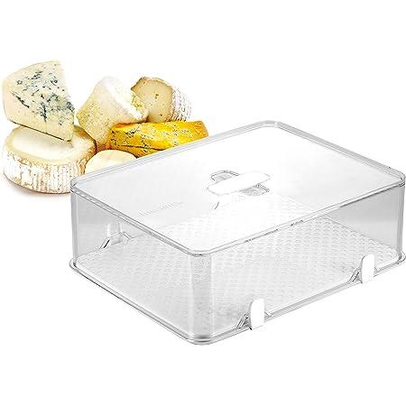 Tescoma 891828 Purity Contenitore Igienico Frigorifero per Formaggio, Plastica, Trasparente