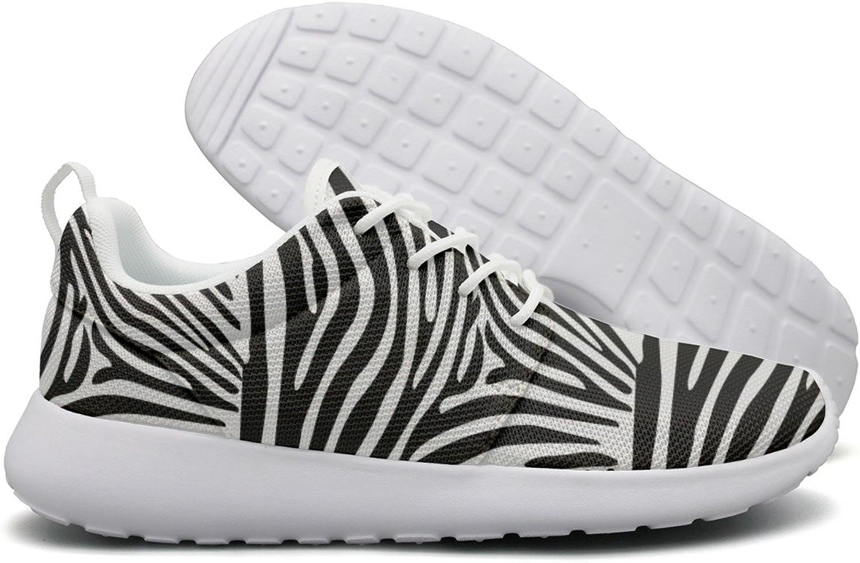 ERSER White and Dark Zebra Stripes Running Tennis shoes for Women