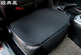 EDEALYN New Universal Ultrathin Antiskid Car Seat Cushion Seat Cover Pad Mat for Auto Accessories Office Chair Cushion Four Seasons General(Black), 1 PCS