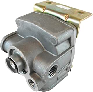 R-12 Relay Rear Axle Service Parking Brakes 4 Port Delivery Valve - Vertical Mount for Heavy Duty Big Rigs