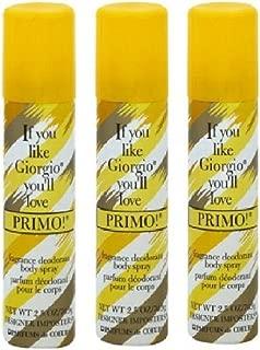 PRIMO BODY SPRAY SET OF 3