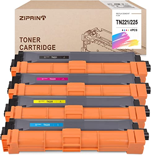 high quality ZIPRINT new arrival Compatible Toner Cartridge Replacement for Brother TN221 TN225 new arrival TN-221 TN-225 use for HL-3170cdw MFC-9130cw HL-3140cw HL-3180CDW DCP-9020CDN Printer(1Black, 1Cyan, 1Magenta,1Yellow,4-Pack) online