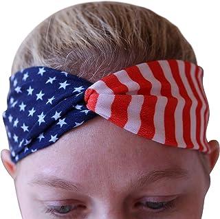 Art Attack USA American Flag Headband, Stars & Stripes Workout Bandana (Modern USA)