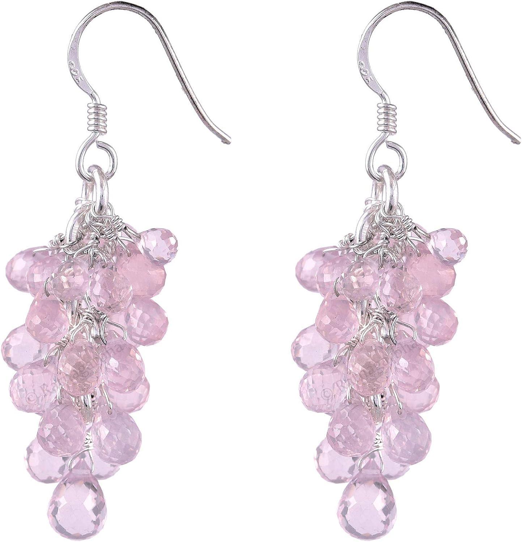 Ratnagarbha rose Max Cheap mail order shopping 51% OFF quartz drops earrings dangle drop