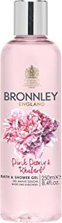 Bronnley Pink Peony and Rhubarb Bath and Shower Gel 250 ml by Bronnley