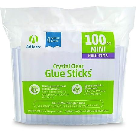 AdTech 100-pack 4-inch Mini Glue Sticks for Crafting, DIY, and Home Repair #220-34ZIP100 Bulk