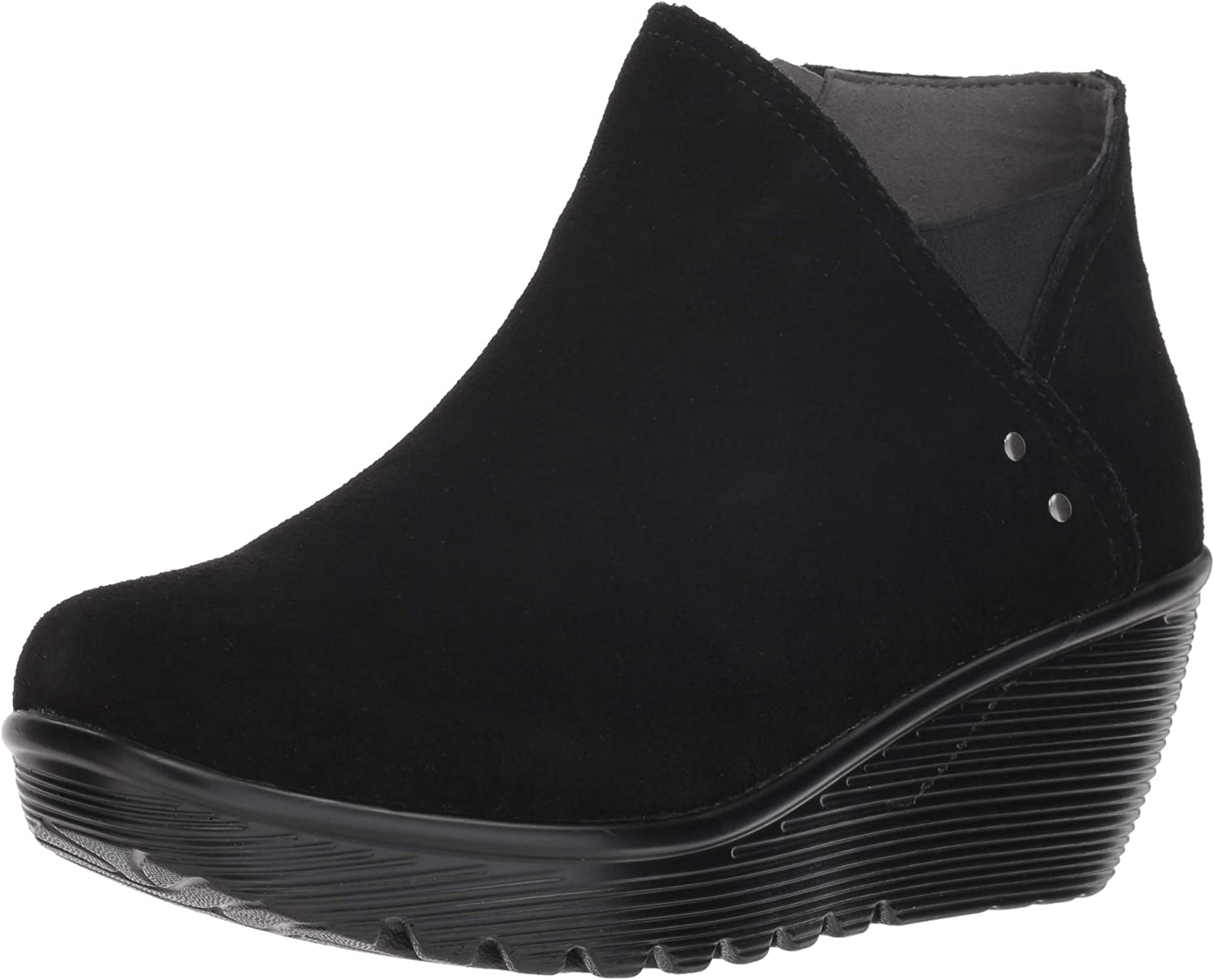 Skechers Womens Parallel - Ditto - Asymmetrical Collar Suede Bootie Ankle Boot