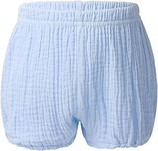 MyoLo Newborn Baby Girl Boy Cotton Linen Blend Pull on Bloomer Shorts