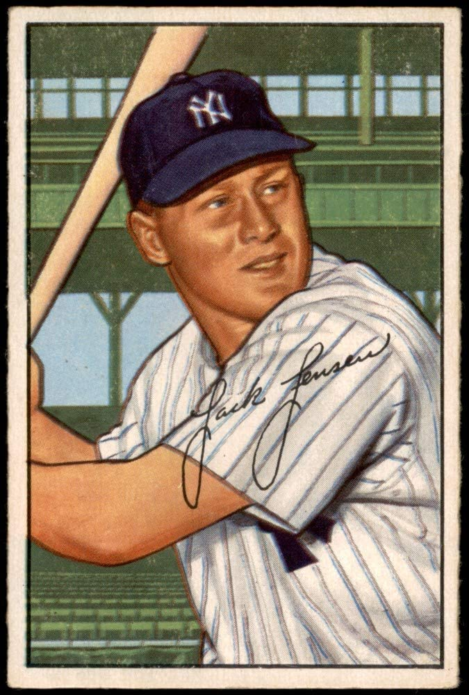 1952 Max 65% Courier shipping free shipping OFF Bowman # 161 Jackie Ca Washington Jensen Baseball Senators