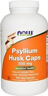 NOW Foods - Psyllium Husk Caps 500 mg 500 caps (Pack of 2)