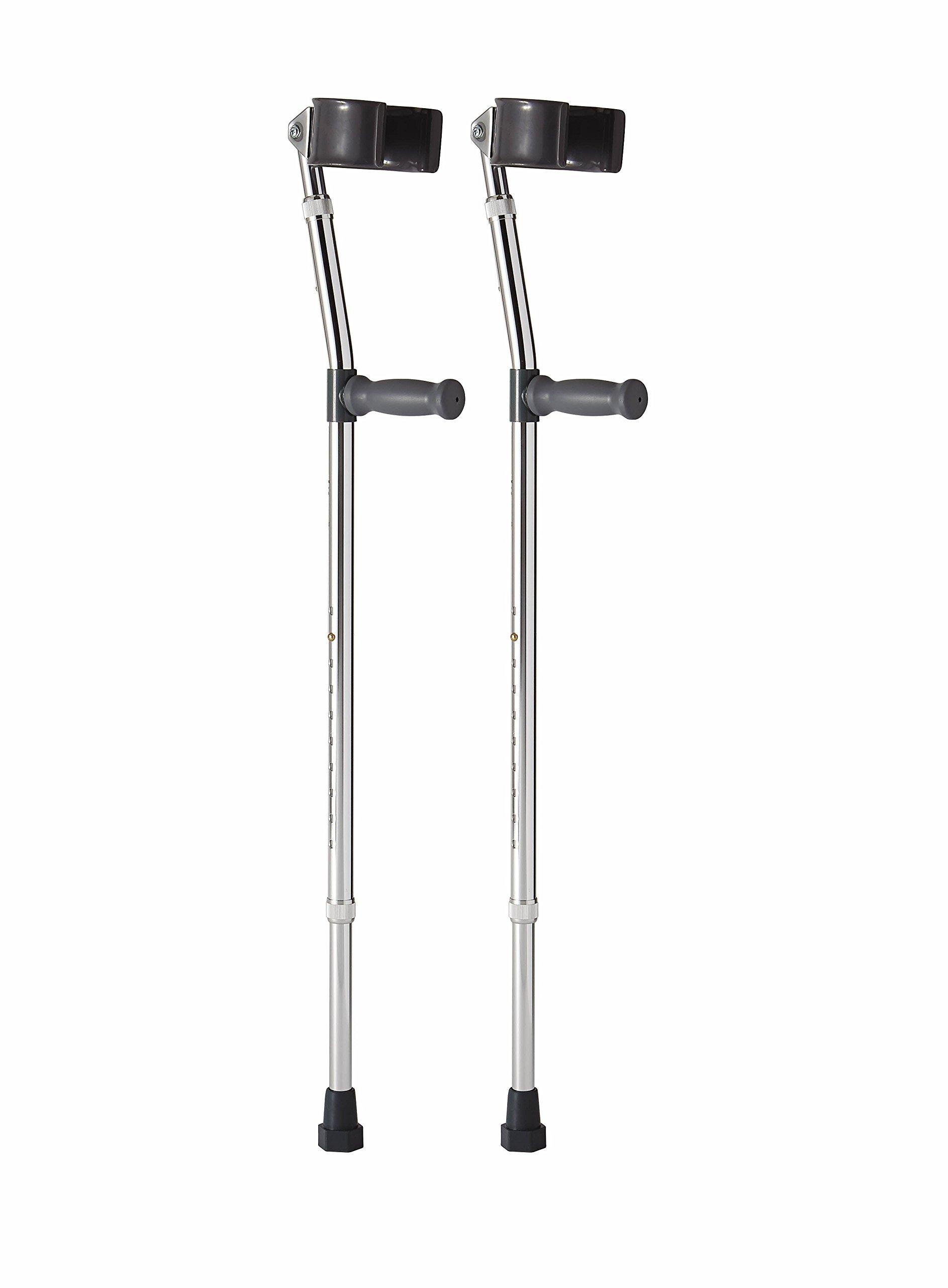 Medline MDS805161 Aluminum Forearm Crutches