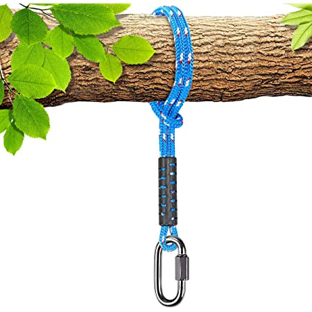 Benelabel Tree Swing Rope Holds 2500 Lb Capacity Hammock Tree Swing Hanging Strap Heavy Duty Carabiner 1000lb Capacity For Outdoor Swings Hammock Playground Set Accessories 4 92ft 1 Pack Garden Outdoor