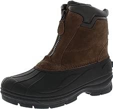 Woodstock Men's Brock Zip Up Waterproof Comfortable Extra Warmth Winter-Ready Leather Boot