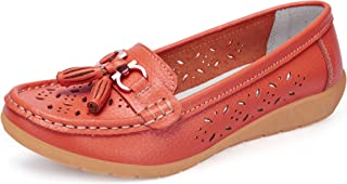 labato Women's Comfort Leather Casual Flat Driving Loafers Driving Moccasin Shoes