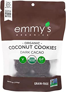 Emmys Organics Coconut Dark Cacao Macaroons, 6 ounces (Pack of 2)