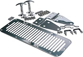 RAMPAGE PRODUCTS 7499 Stainless Complete Hood Kit for 1978-1995 Jeep CJ & Wrangler YJ