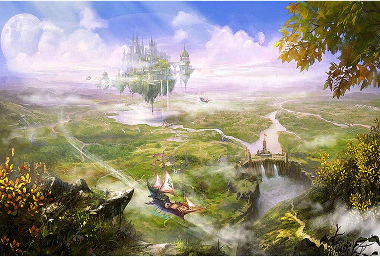 Puzzle House- Puzzle di Legno, Fantasic Floating città, 500 1000 1500 Puzzle di Pezzi Gioco per Adulti e Bambini -419 (Dimensioni   1500pc)