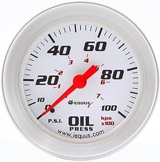 سنج فشار مکانیکی روغن Equus 8244 2 اینچ ، سفید با حاشیه آلومینیوم