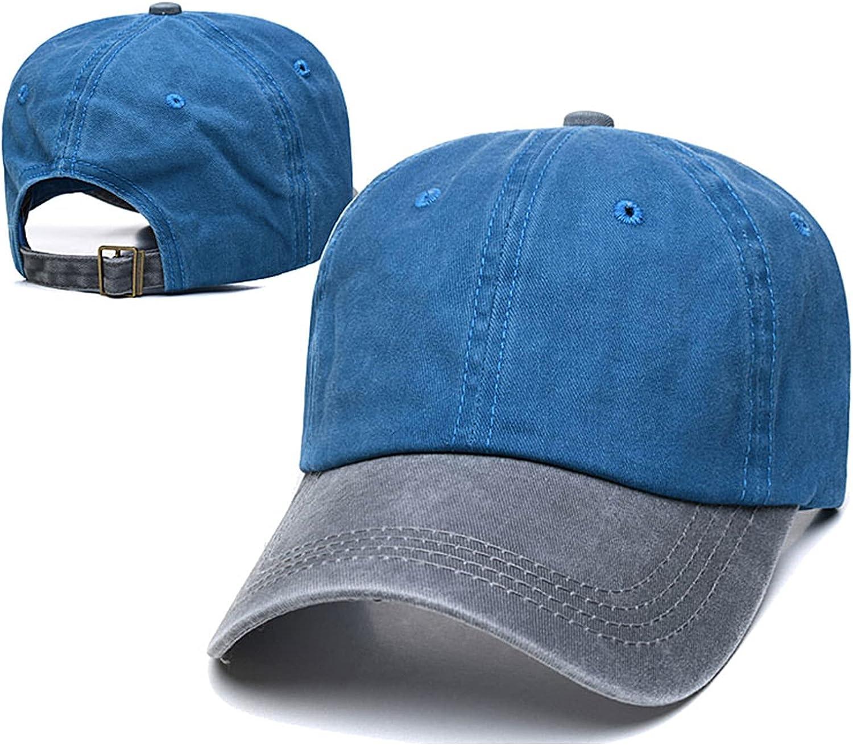 Sunnyhot Baseball Cap Washed Distressed Cotton Dad Hat Adjustable Unisex Style Headwear Hat