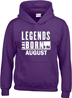 534c379b40fb1 JLB Print Legends are Born in August Funny Cool Premium Quality Unisex  Hoodies for Men,
