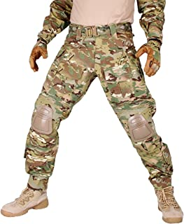 IDOGEAR G3 Combat Pants with Knee Pads Multicam Black Airsoft Hunting Army Military Camouflage Clothing