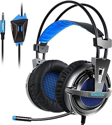 Kingtop Cuffie Gaming per PS4 Xbox Ones Cuffie Stereo da Gaming con Microfono Pieghevole per PCGame Videogame Tablet PC Cellulari Cuffie da Gioco con Cavo Headset Gaming Wired Nero Blue - Trova i prezzi più bassi