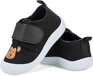 Zapatillas de Estar por casa Zapatos de lona Niña Niño Infantil Zapatos de Deporte Suave Antideslizante(Mono
