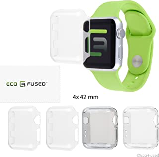 Eco-Fused Case Cover Screen Protector compatible with Apple Watch 2 (42mm) - 4 pack (2x Hard, 2x Soft)