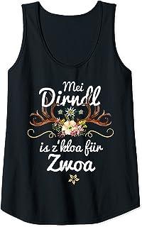 Mei Dirndl is z kloa für Zwoa Damen Mei Dirndl is z kloa für Zwoa Schwangere lustige Sprüche Fun Tank Top