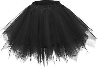 Falda Tutu de Ballet para Niñas/Mujeres Skirt Corta Infantil con Capas Cintura Elástica Disfraz Fiesta Blanco 30/38CM