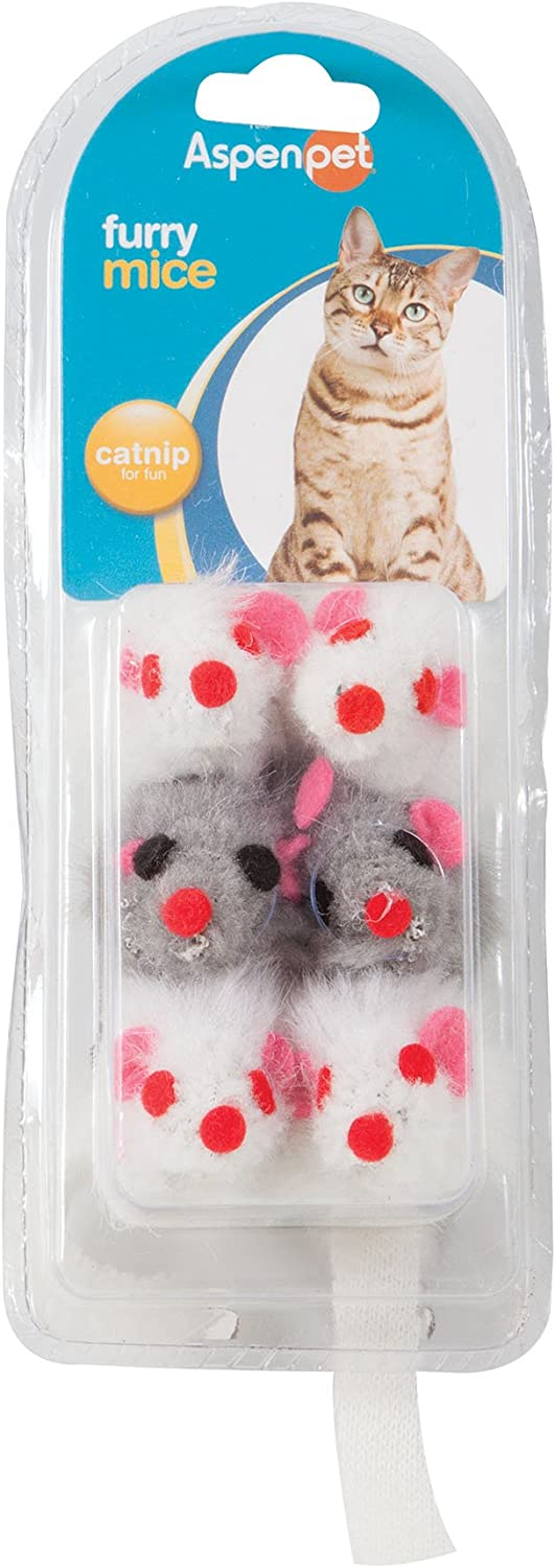 Petmate Soft Bite Max 80% OFF Cat Toy Mice Natural Brand Cheap Sale Venue Small 6-Pack