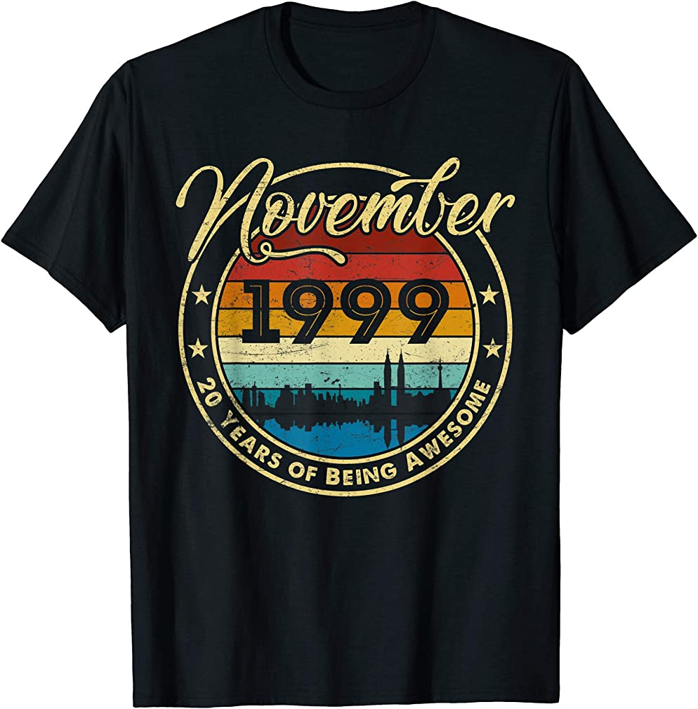 Classic November 1999 20 Years Old 20th Birthday Gift T-shirt