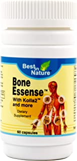 Bone Essense with Kolla2 and More 60 caps - Unique Vitamin for Bone and Joint Health. Improve Joint Discomfort and Lubrication. Created by Best in Nature.