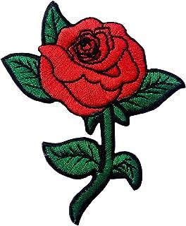 ZEGIN Red Rose Distintivo Ricamato Applicazioni Il Ferro su Cucia sulla Toppa Patch