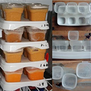 8x70ml Baby Weaning Food Freezing Cubes Feeding Pots Tray Storage Gruel Rice BPA Free Containers Box