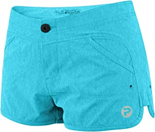 Women's Deep Sea Blue Hybrid Fishing Shorts | Fish Appear When Wet | H20 Activate Techology