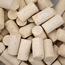 "Tebery 9# Natural Blank Wine Corks Craft Corks Premium Winery & Bottle Grade of Portugal- 15/16"" x 1 3/4"" Bag of 100"
